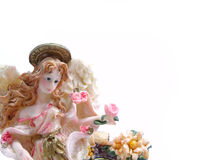 Beutiful doll decoration. With free space for text Royalty Free Stock Image