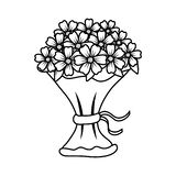 Beutiful flowers bouquet icon. Vector illustartion design royalty free illustration