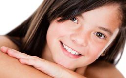 Beutiful girl smiling Stock Images