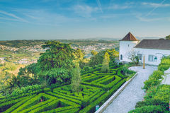 Beutiful house park  and city view in Portugal. Royalty Free Stock Photos