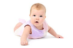 Beutiful infant baby girl Stock Photography