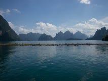 Beutiful lake. Around with moutain Stock Photo
