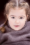Beutiful Little miss girl toddler with french braids blond hair Stock Image