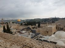 Beutiful old city of jerusalem royalty free stock images