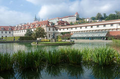 Beutiful park. One beutiful park in prag with water Royalty Free Stock Images