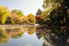 Beutiful pond in Ueno Stock Photo