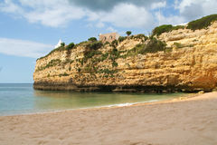 Beutiful Portuguese Algarve beach Stock Images