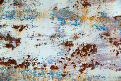Beutiful rusty steel wall. Royalty Free Stock Image