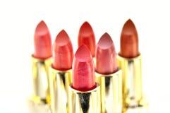 Beutiful set of  lipsticks. Isolated on white Royalty Free Stock Photos