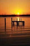 Beutiful Sunset View. Beautiful sunset view at St. Kilda Beach Royalty Free Stock Photo