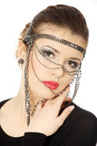 Beutiful teen  brunette with jewelery Royalty Free Stock Image