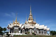 Beutiful Thai temple. With blue sky Stock Photos