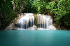 Beutiful waterfall. The Beutiful waterfall name \'s Erawan Waterfall in Erawan NationalPark in Thailand Stock Images