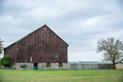 Beutifull Brown Barn. In the rural country side farm Royalty Free Stock Image