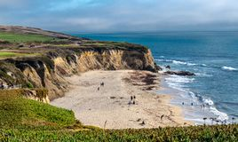 Beutifull observation on Half moon bay beach stock photography