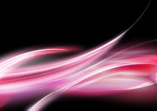 Beuty in the dark. Beautiful wave line shine in the dark Royalty Free Stock Photos