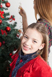 Beuty girl in christmas Stock Image