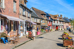 Beuvron-en-Auge Calvados, Normandie, Frankrike Royaltyfri Fotografi