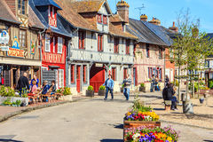 Beuvron-en-Auge, Calvados, Normandy, France. Stock Photography