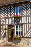Beuvron-en-Auge, typical house facade Stock Photo