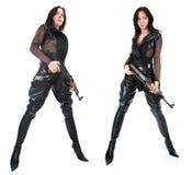 beväpnad flicka arkivbild