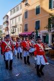Beväpnad marsch för vaktmusikband, Gibraltar Royaltyfria Foton