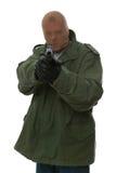 beväpnad rånare Fotografering för Bildbyråer