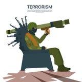 Beväpnad terrorist Group Terrorism Concept Royaltyfri Bild