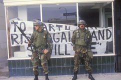 Beväpnade nationella Guardsmen Arkivfoto
