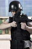 Beväpnade polisar för Black royaltyfria foton