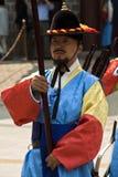 Beväpnade vakter i traditionell dräkt Royaltyfri Foto