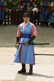 Beväpnade vakter i traditionell dräkt Fotografering för Bildbyråer