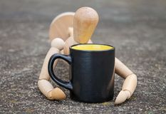 Beva un caffè Fotografia Stock Libera da Diritti