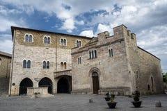 Bevagna Perugia, Úmbria, cidade histórica Imagem de Stock