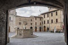 Bevagna Perugia, Úmbria, cidade histórica Fotografia de Stock