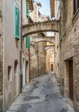 Scenic sight in Bevagna, ancient town in the Province of Perugia, Umbria, central Italy. Bevagna is a town and comune in the central part of the Italian stock image