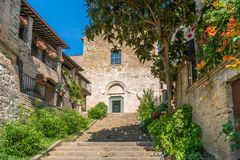 Scenic sight in Bevagna, ancient town in the Province of Perugia, Umbria, central Italy. Bevagna is a town and comune in the central part of the Italian royalty free stock photos