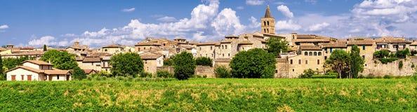 Bevagna & x28; Umbria& x29; высокое определение панорамное Стоковые Фото