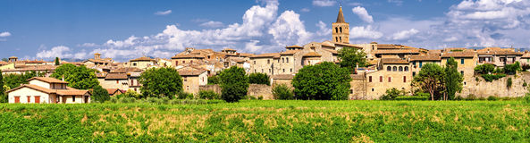 Bevagna (Umbria) high definition panoramic Royalty Free Stock Photography
