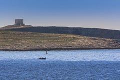 Bevakad fiskare Royaltyfri Bild