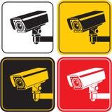 Bevakningkamera royaltyfri illustrationer