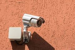Bevakningsäkerhetskamera Fotografering för Bildbyråer