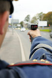 bevakningtrafik under Fotografering för Bildbyråer