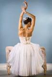 Bevallige ballerina achtermening royalty-vrije stock afbeeldingen