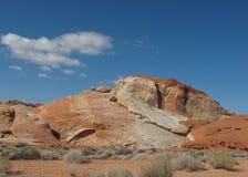 Bevallige Rotsvorming in Vallei van het Park van de Brandstaat, Nevada Stock Afbeelding