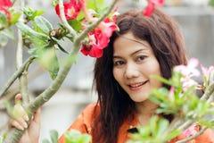 Bevallige Thaise dame Stock Foto