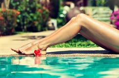Bevallige vrouwenbenen Stock Fotografie
