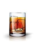 Bevanda alcolica con ghiaccio Fotografia Stock