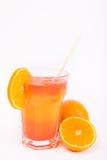 Bevanda arancione dell'alcool con ghiaccio Fotografie Stock Libere da Diritti