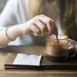 Bevanda che beve concetto di refrigerazione di svago del caffè calmo Fotografie Stock Libere da Diritti